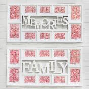 Family and Memories White Frames
