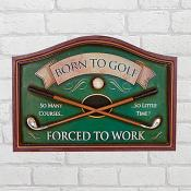 Born To Golf Pub sign