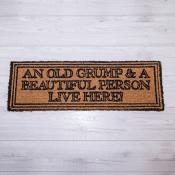 An Old Grump and Beautiful Person Doormat