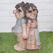 Troll couple with flower