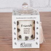 Sentiment Candle Jar Friends