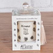 Sentiment Candle Jar Home