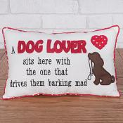 A dog lover sits here cushion