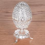 Diamonte Egg Trinket Box