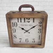 Suitcase Clock Brown