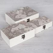 World Map Boxes Set of Three