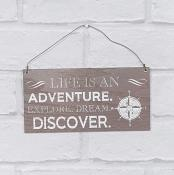 Life is an Adventure Hanging Plaque