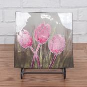 Pink Floral Fields Plate Small