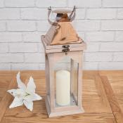 Wooden Lantern with Copper