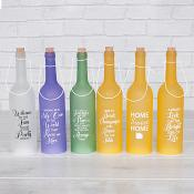 Assorted Light Up Bottles Set Of Six  Home Sweet Home