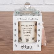 Sentiment Candle Jar - Happy Birthday