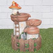 Fairy House with Toadstool Water Feature