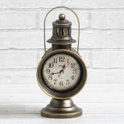 Gas Lamp Style Hanging Clock