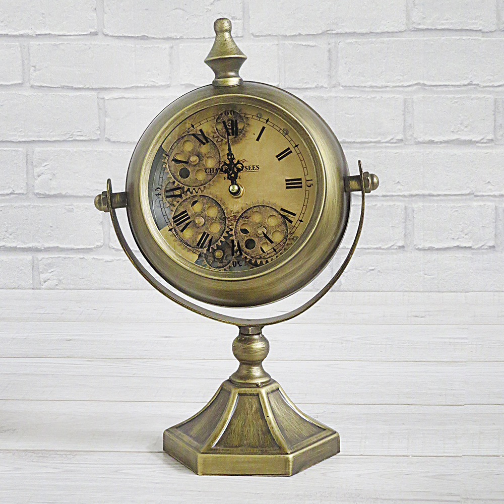 Antique Style Cog Clock on Stand