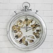 Silver Cog Clock Wall