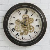 Black Cog Clock Wall