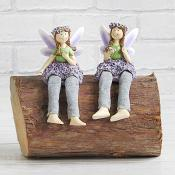 Lavender Fairies Sitting Purple