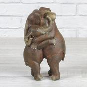 Elephants Hugging