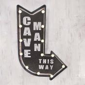 Cave Man Arrow Light Up Sign