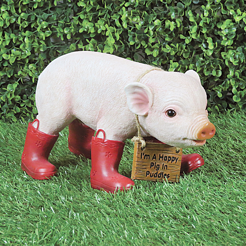 Polly the Pig in Wellies