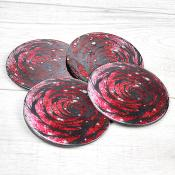 Red Rose Coasters Set of 4