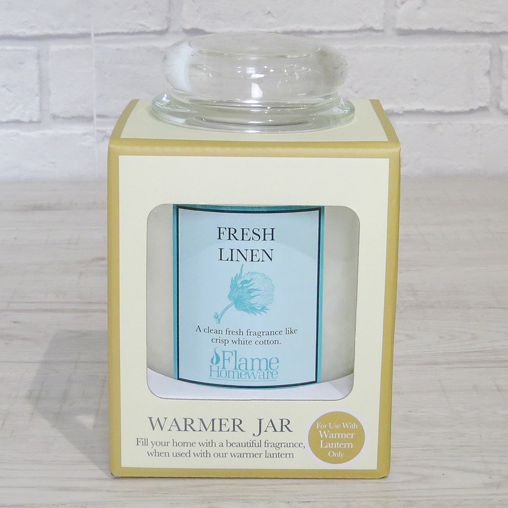 Fresh Linen BOXED Warmer Candle Jar