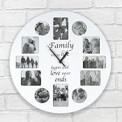 Family Clock Photo Frame