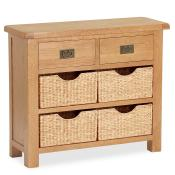 Salisbury Oak Furniture Small Sideboard with Baskets